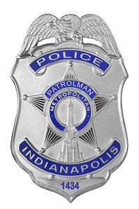 David Moore IMPD Patrolman badge