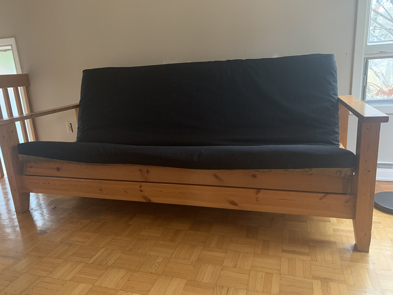 Futon in seating position.