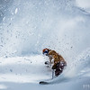 Scott Heale freeing his feet and noboarding some spring powder near Revelstoke, BC.