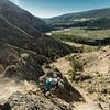 Athlete: Evan Powell<br /> Location: Farwell Canyon, BC<br /> A legendary freeride zone...on trail bikes?  Evan Powell gets rowdy on some desert chutes in just a half lid on his trail bike.  Times have changed!