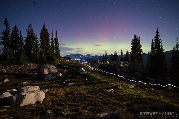 Aurora Borealis near Revelstoke, BC