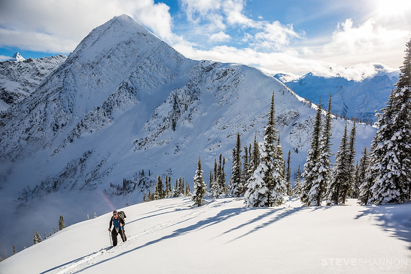 Models: Adrian Jeffery<br /> Location: Rogers Pass, Selkirk Mountains, BC