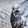 Mel Bernier skis an exposed line above Skaftafellsjökull in Iceland.