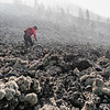 Emily Slaco rides through a lava flow on La Palma.