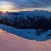 Goat Range Sunset, Selkirk Mountains