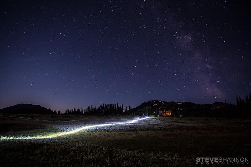 Night riding at Sol Mountain Lodge.