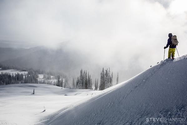 Model: Alan Hogg<br /> Location: Sol Mountain Lodge, Monashee Mountains, BC
