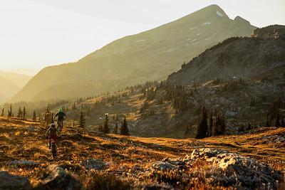 Matt Yaki & Sahanna Browning ride alpine singletrack at Sol Mountain Lodge, BC.