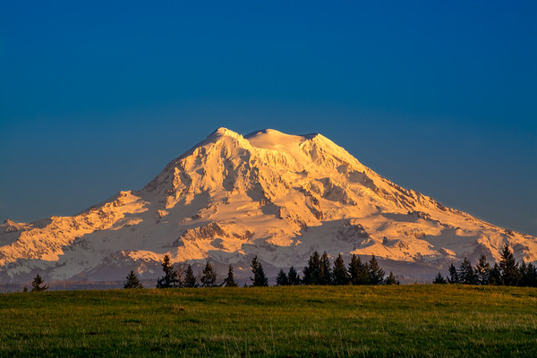 Golden Hour Mount Rainier