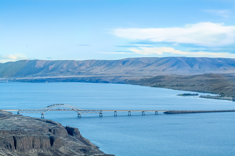 Columbia River and Vantage Bridge