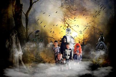 Kids in the grave yard
