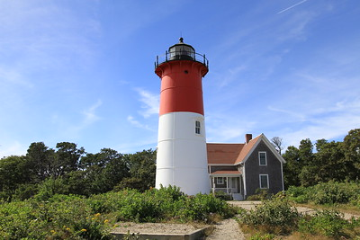 Nauset Light and the light keepers cottage.