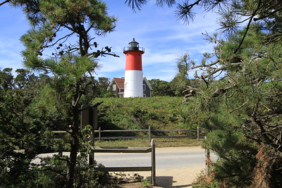 "Nauset Lighthouse ""between the pines."""