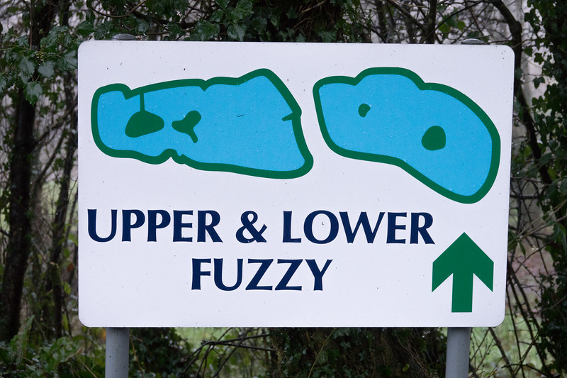 Lake sign for Upper and Lower Fuzzy lakes