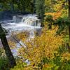 Manabezho Falls in Fall