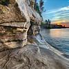 Sea Cave and Lake Superior Sunset