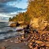 Lake Superior Shoreline Sunset