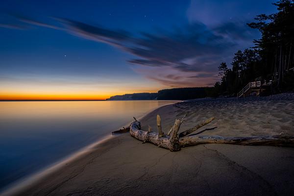 Before Sunrise on Lake Superior - Pictured Rocks National Lakeshore