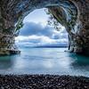 Lake Superior Sea Cave and Pebbles