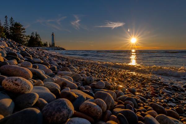 Sunset at Crisp Point on Lake Superior
