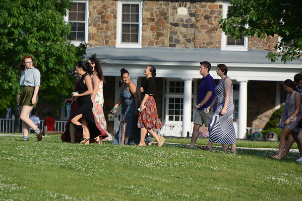 2016-05-31 Seniors Walking to Head of School's House