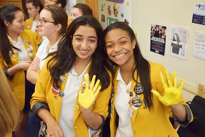 Senior Externships and Gold Handprints