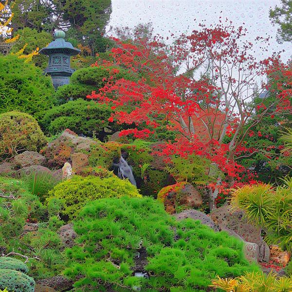 Japanese Tea Garden - Upscaled Detail