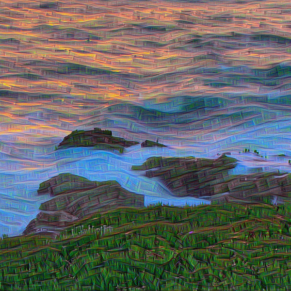 Point Montara Summer Solstice - Upscaled Detail