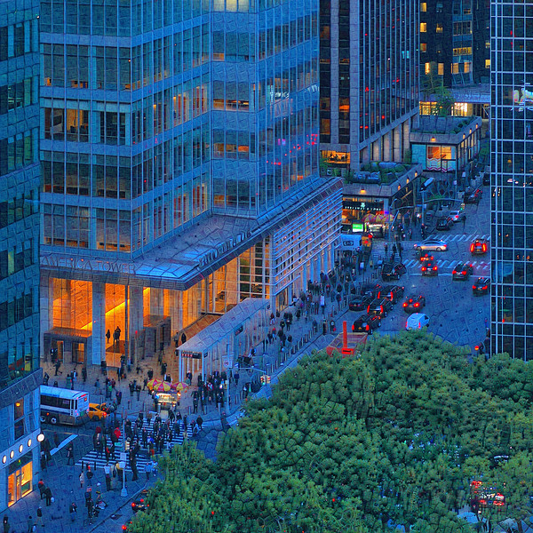 Bryant Park - Upscaled Detail