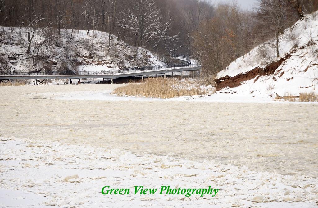 Winter River Walkway