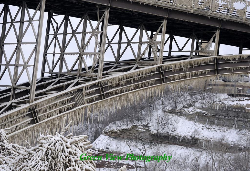 Icy Driving Park Bridge