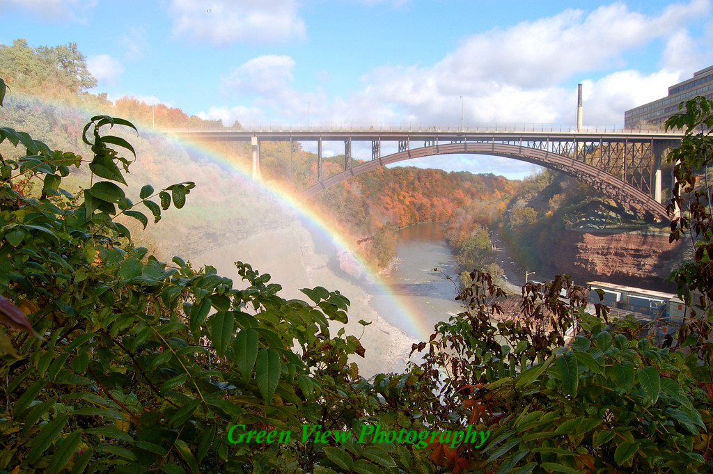 Autumn Rainbow Driving Park Bridge