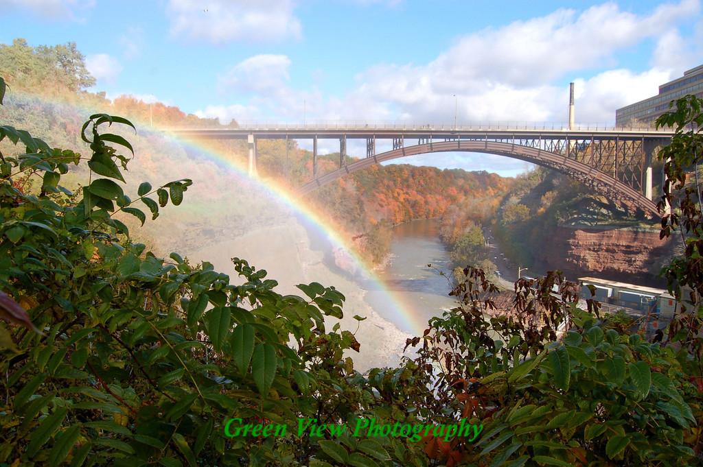 Autumn Rainbow Driving Park Bridge
