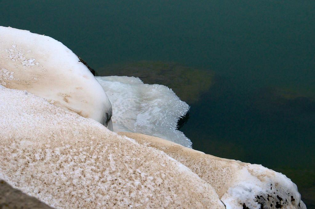 Beautiful Ice Coated Rocks - Irondequoit Pier