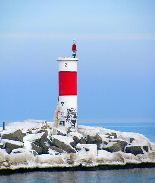 Winter Irondequoit lighthouse