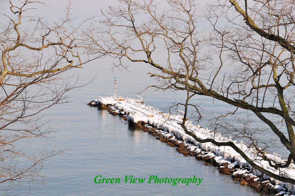 Winter Pier at Webster Park