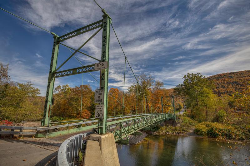 Corbett Bridge With Blue Sky, Downsville New York
