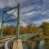 Corbett Bridge With Blue Sky, Downsville New York