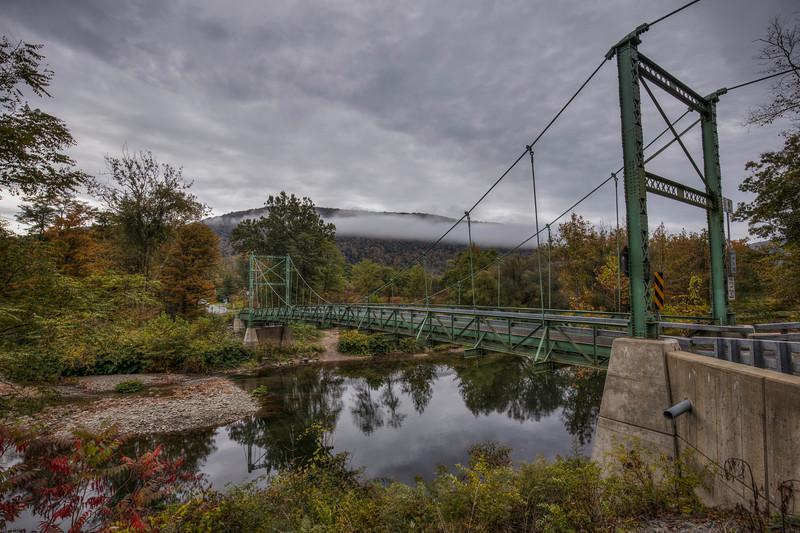 Corbett Bridge And Fog, Downsville New York