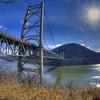 Sun Beating Down On The Bear Mountain Bridge
