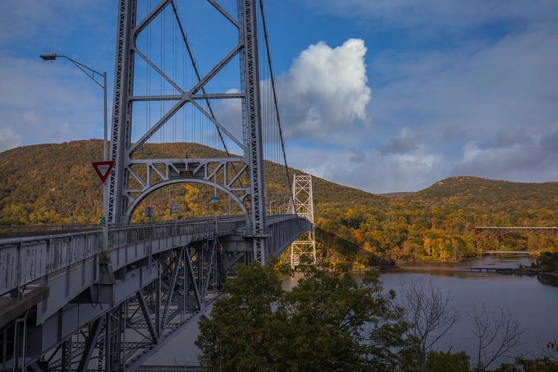Bear Moutain Bridge With Cloud