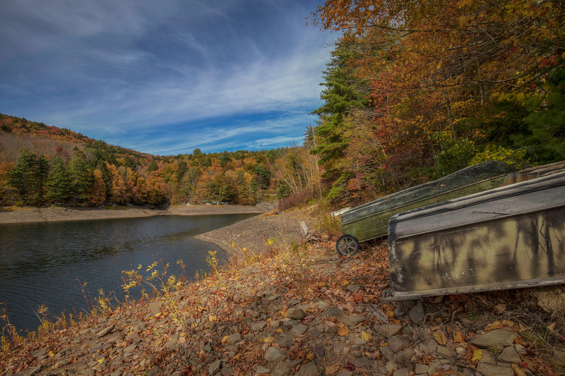 Boat With Wheels, Delaware River, Roscoe New York