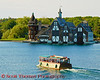 Boat house across from Boldt Castle in the 1000 Islands.