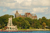 Boldt Castle and Alster Tower on Heart Island is a popular tourist attraction on the St. Lawrence River across from Alexandria Bay, New York