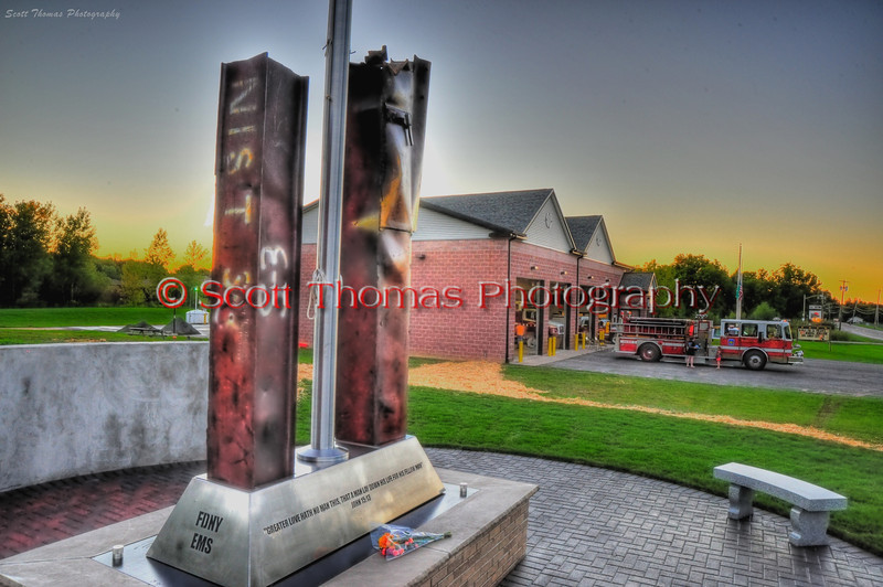 Baldwinsville 9/11 Memorial in Baldwinsville, New York the night before its dedication.