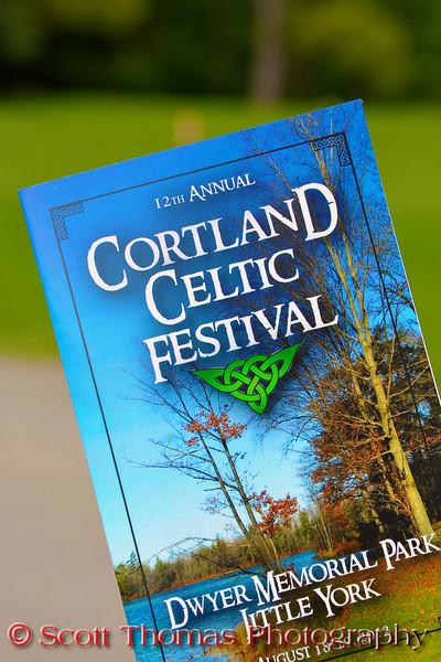 Program cover for the Cortland Celtic Festival at the Dwyer Memorial Park in Little York, New York.