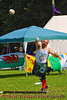 A Highland Games athlete in the Open Stone competition at the Cortland Celtic Festival at the Dwyer Memorial Park in Little York, New York.