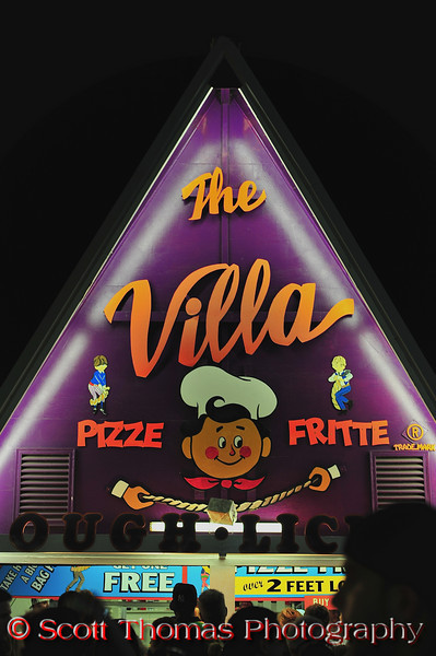 The Villa, home of the Pizze Fritte, at the Great New York State Fair in Syracuse, New York.