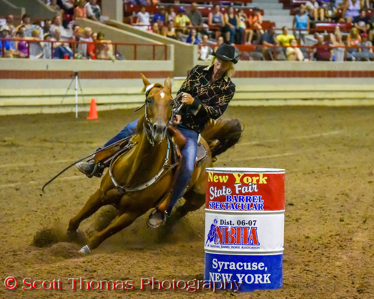 New York State Fair Barrel Racing Spectacular took place in the Coliseum near Syracuse, New York on Saturday, August 27, 2016.
