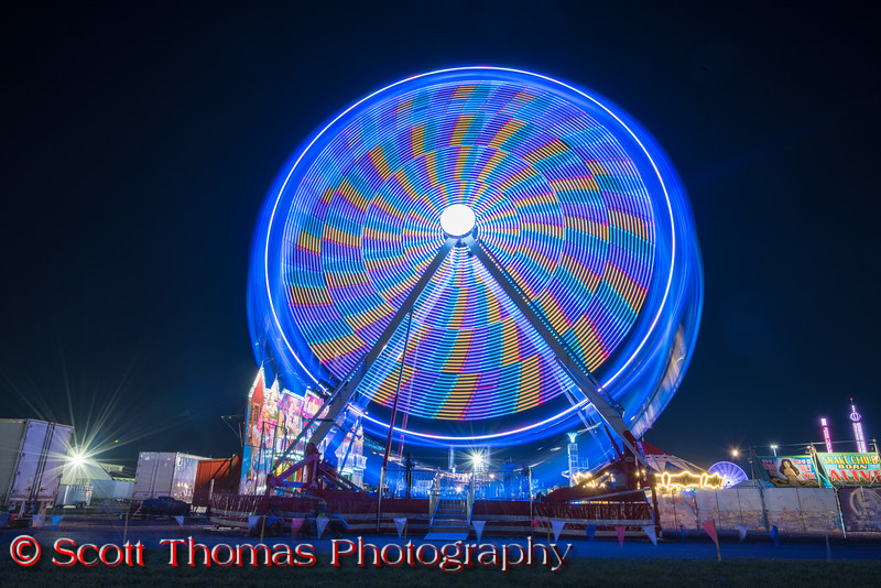 Ferris wheel on the Midway at the New York State Fair near Syracuse, New York on Saturday, August 27, 2016.